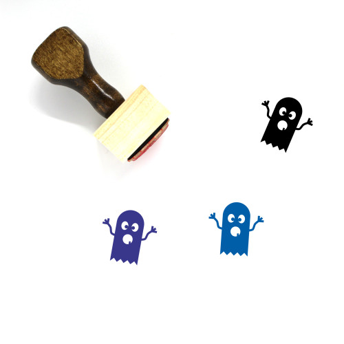 Ghost Wooden Rubber Stamp No. 101