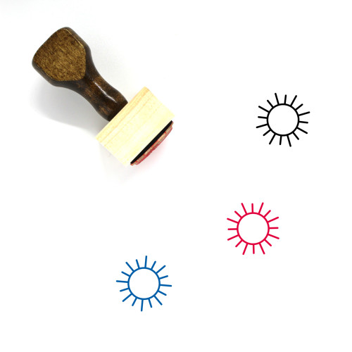 Sun Wooden Rubber Stamp No. 165