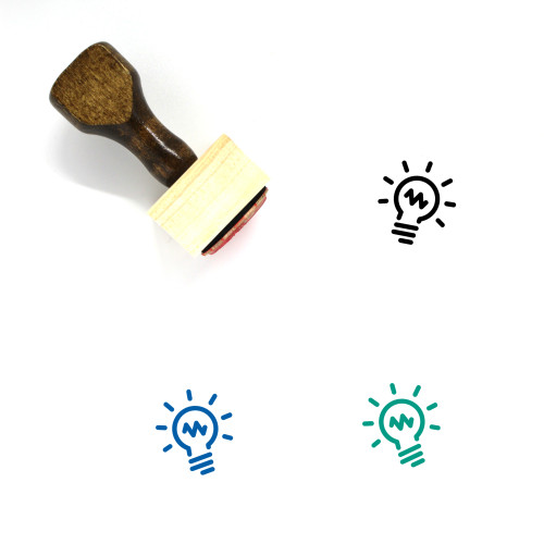 Light Bulb Wooden Rubber Stamp No. 101