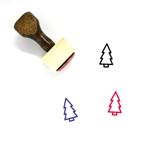 Tree Wooden Rubber Stamp No. 110