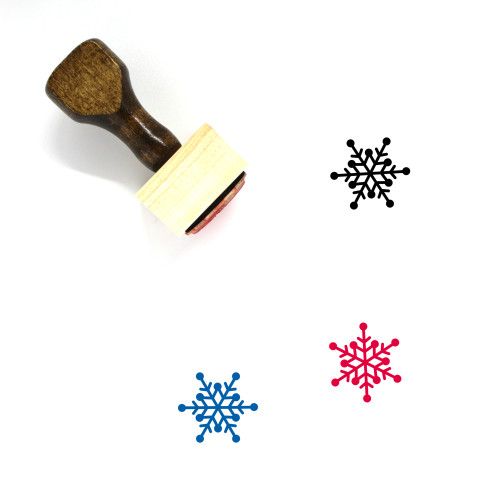 Snowflake Wooden Rubber Stamp No. 129