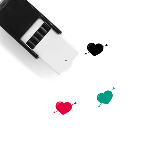 Heart And Arrow Self-Inking Rubber Stamp No. 11