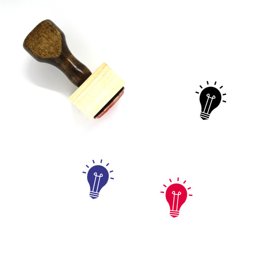 Light Bulb Wooden Rubber Stamp No. 102