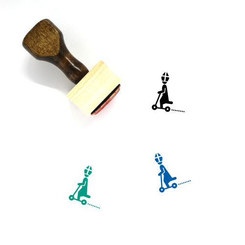 Popemobile Wooden Rubber Stamp No. 4