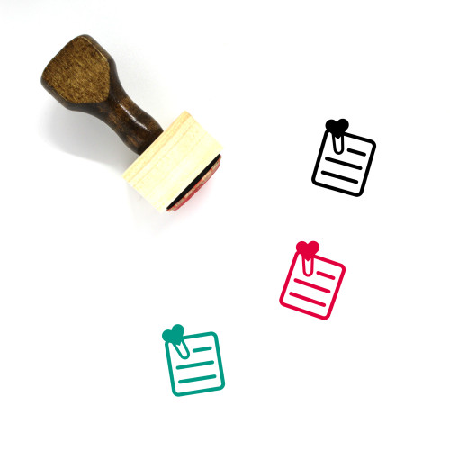 Love Memo Document Wooden Rubber Stamp No. 1