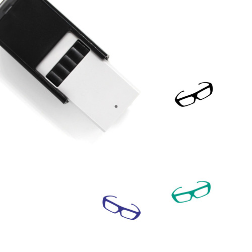 3D Glasses Self-Inking Rubber Stamp No. 4