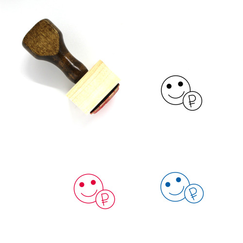 Account Balance Wooden Rubber Stamp No. 1