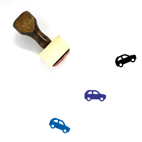 Car Wooden Rubber Stamp No. 21