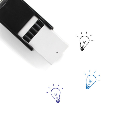 Light Bulb Self-Inking Rubber Stamp No. 104