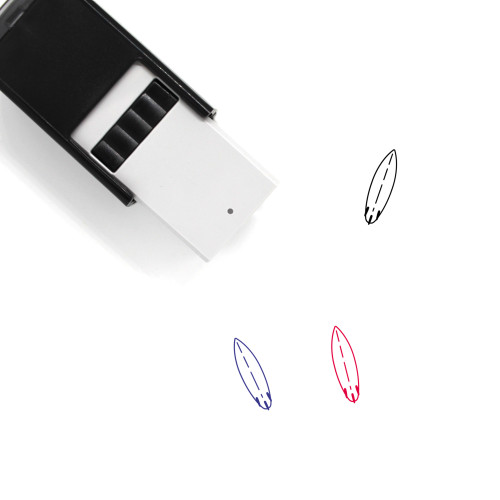 Surfboard Self-Inking Rubber Stamp No. 4