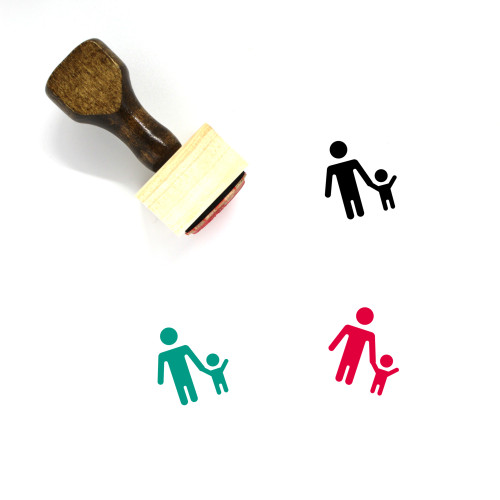 Father And Son Wooden Rubber Stamp No. 13