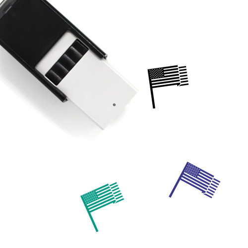 United States Flag Self-Inking Rubber Stamp No. 16