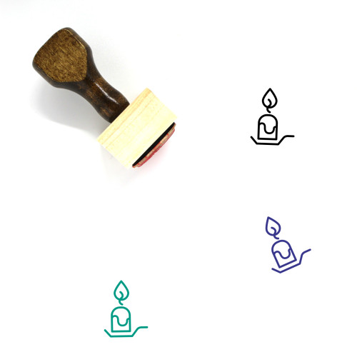 Candle Wooden Rubber Stamp No. 142