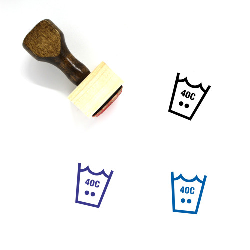 Wash 40C Wooden Rubber Stamp No. 1