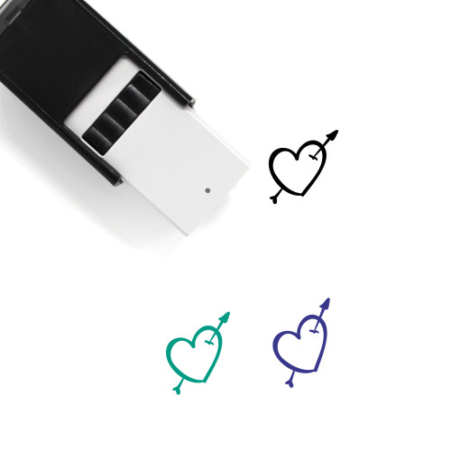 Heart And Arrow Self-Inking Rubber Stamp No. 12