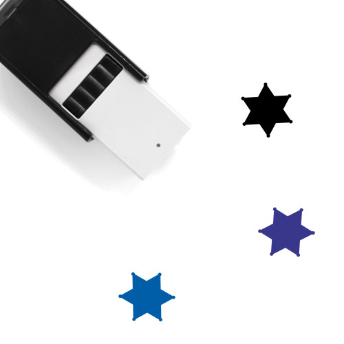 Star Sheriff Self-Inking Rubber Stamp No. 1
