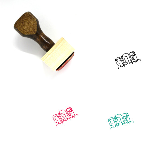 Citizens Wooden Rubber Stamp No. 3