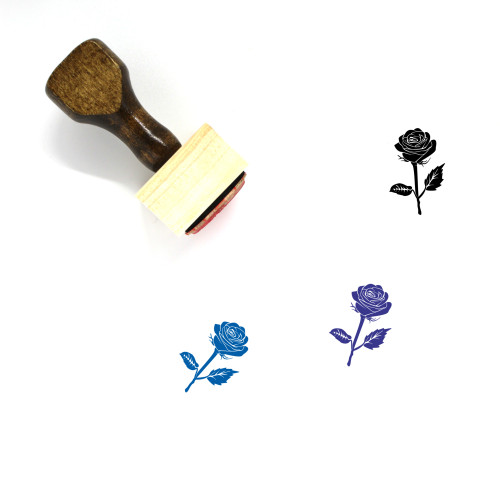 Rose Wooden Rubber Stamp No. 69