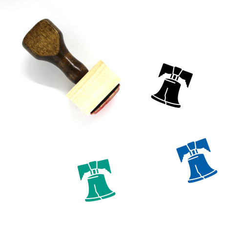 Liberty Bell Wooden Rubber Stamp No. 3