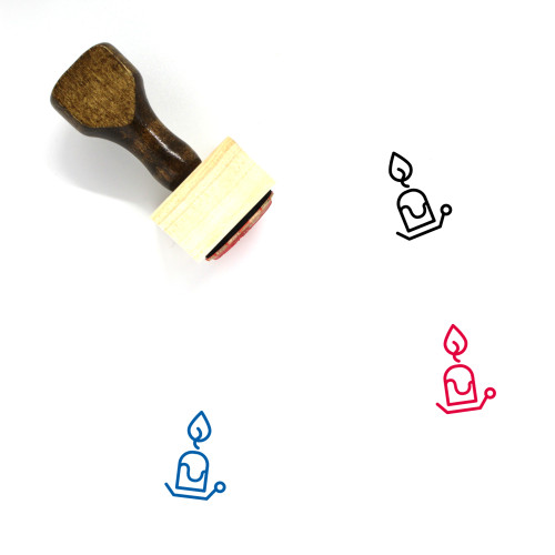 Candle Wooden Rubber Stamp No. 144