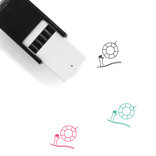 Drowning Self-Inking Rubber Stamp No. 6