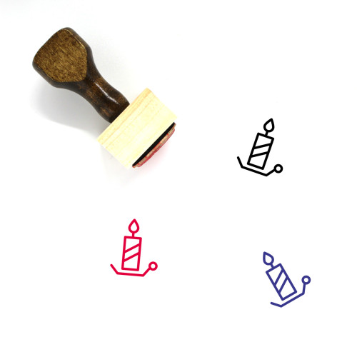 Candle Wooden Rubber Stamp No. 145