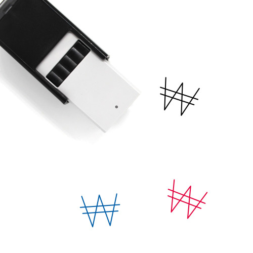 Won Currency Self-Inking Rubber Stamp No. 2