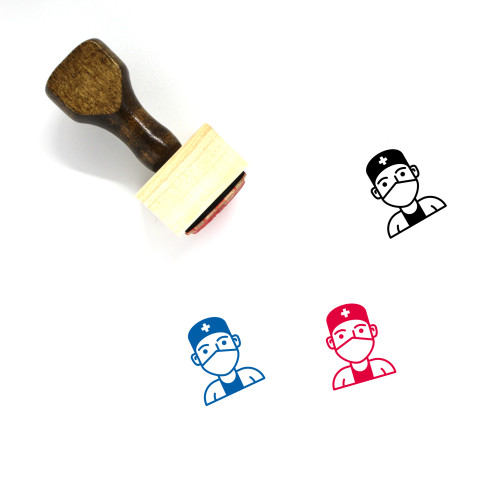 Doctor Wooden Rubber Stamp No. 73