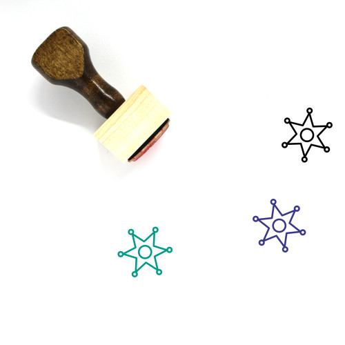 Police Badge Wooden Rubber Stamp No. 10