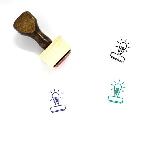 Light Bulb Wooden Rubber Stamp No. 106