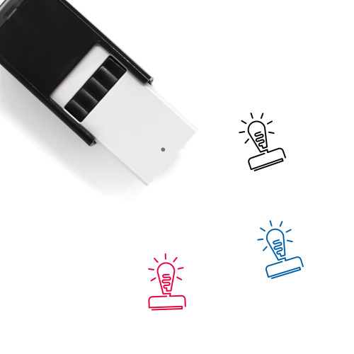 Light Bulb Self-Inking Rubber Stamp No. 106