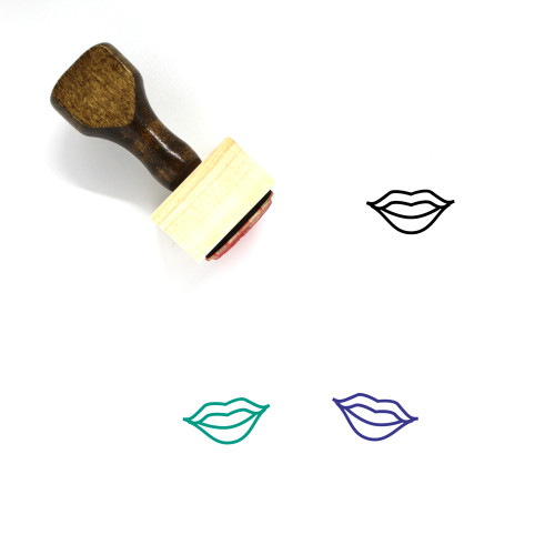 Lips Wooden Rubber Stamp No. 22
