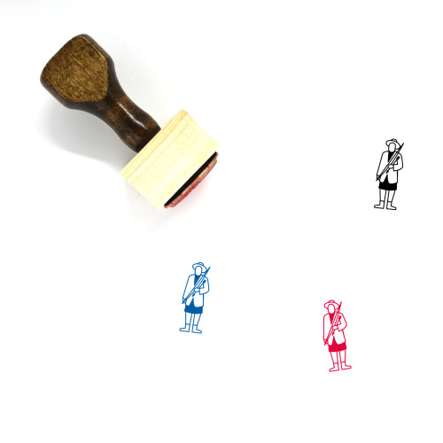 Geronimo Wooden Rubber Stamp No. 1