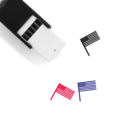 United States Flag Self-Inking Rubber Stamp No. 17