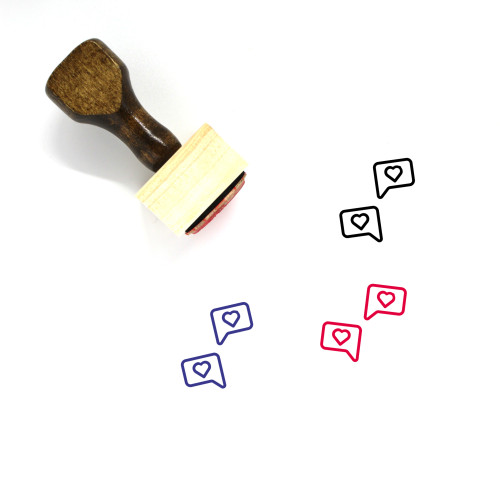 Love Talk Wooden Rubber Stamp No. 3