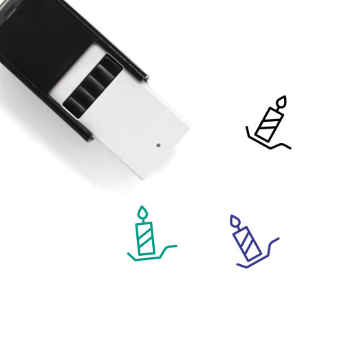 Candle Self-Inking Rubber Stamp No. 147