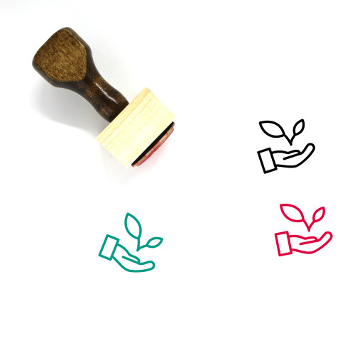 Environmental Wooden Rubber Stamp No. 1