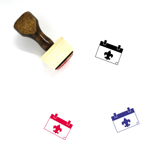 Scouts Day Wooden Rubber Stamp No. 1