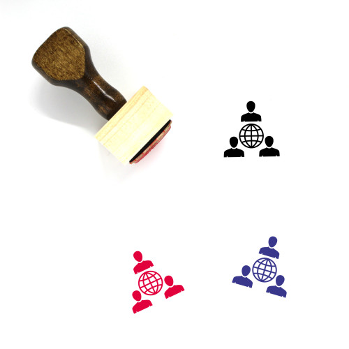 Country Head Wooden Rubber Stamp No. 1