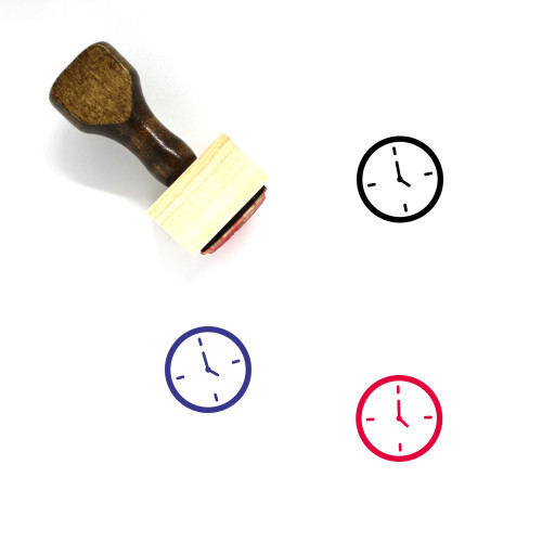 Clock Wooden Rubber Stamp No. 532