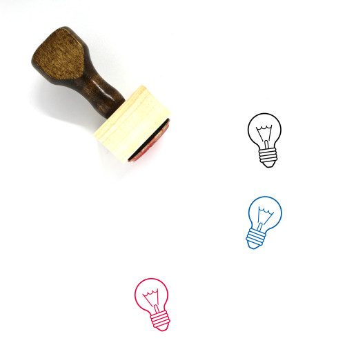 Light Bulb Wooden Rubber Stamp No. 107