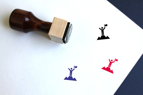 Achievement Wooden Rubber Stamp No. 12