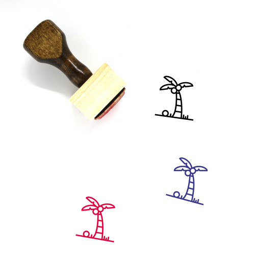 Palm Tree Wooden Rubber Stamp No. 150