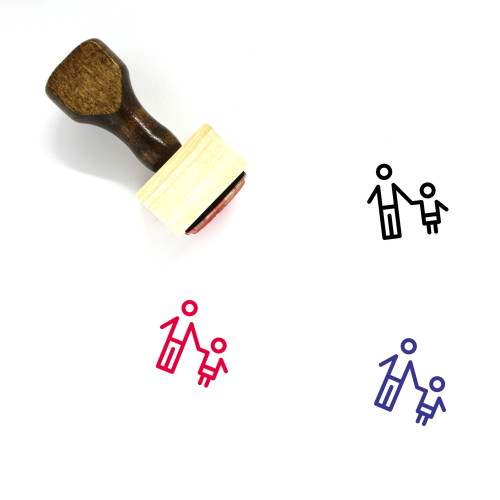 Father And Son Wooden Rubber Stamp No. 14
