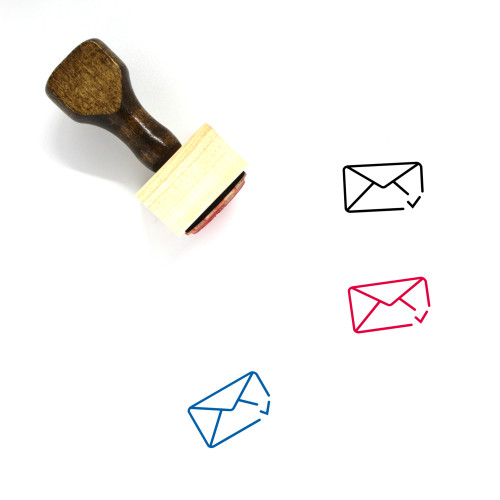 Approve Mail Wooden Rubber Stamp No. 2
