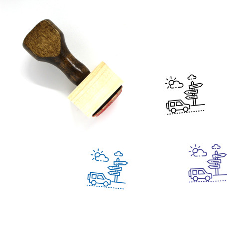 Road Tax Wooden Rubber Stamp No. 1