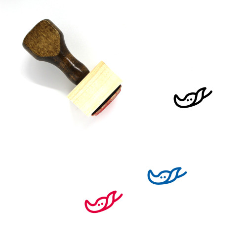 Stingray Wooden Rubber Stamp No. 3