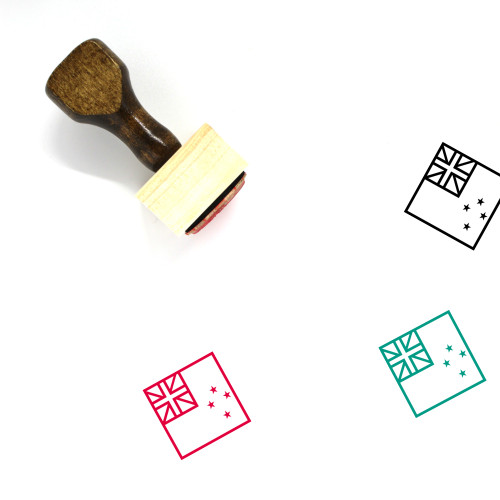 New Zealand Wooden Rubber Stamp No. 14