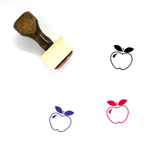 Apple Wooden Rubber Stamp No. 137