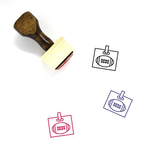 Football Wooden Rubber Stamp No. 341